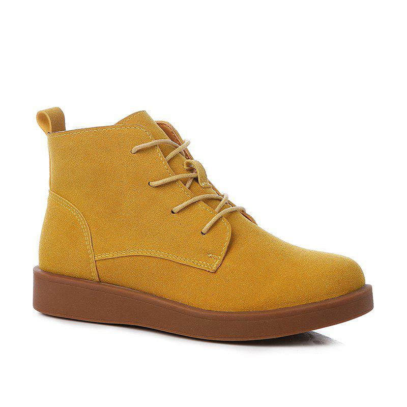 Latest Woman Retro Suede Platform Martin Boots