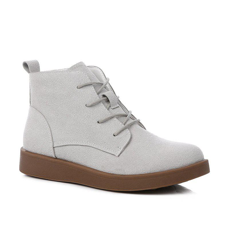 New Woman Retro Suede Platform Boots