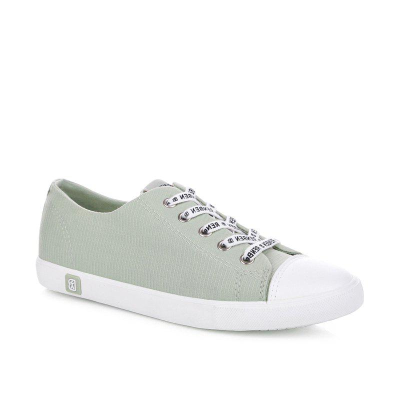 New Fall Woman Flat Lace-Up Canvas Shoes