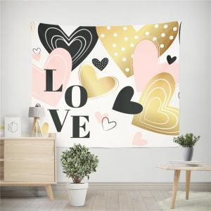 Hand-Made Hd Digital Printing Wall Decoration Tapestry Valentine'S Day Decoration -