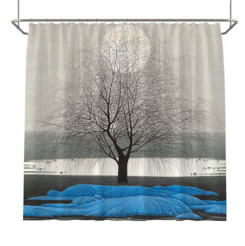 Outfit Colorful Tree Four Seasons Shower Curtain Extra Long Bath Decorations Bathroom Decor Sets with Hooks Print Polyester