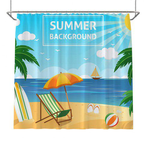 Discount Colorful Tree Four Seasons Shower Curtain Extra Long Bath Decorations Bathroom Decor Sets with Hooks Print Polyester