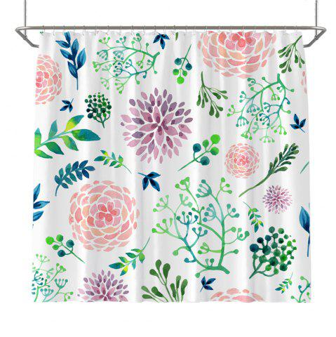 Unique Colorful Tree Four Seasons Shower Curtain Extra Long Bath Decorations Bathroom Decor Sets with Hooks Print Polyester