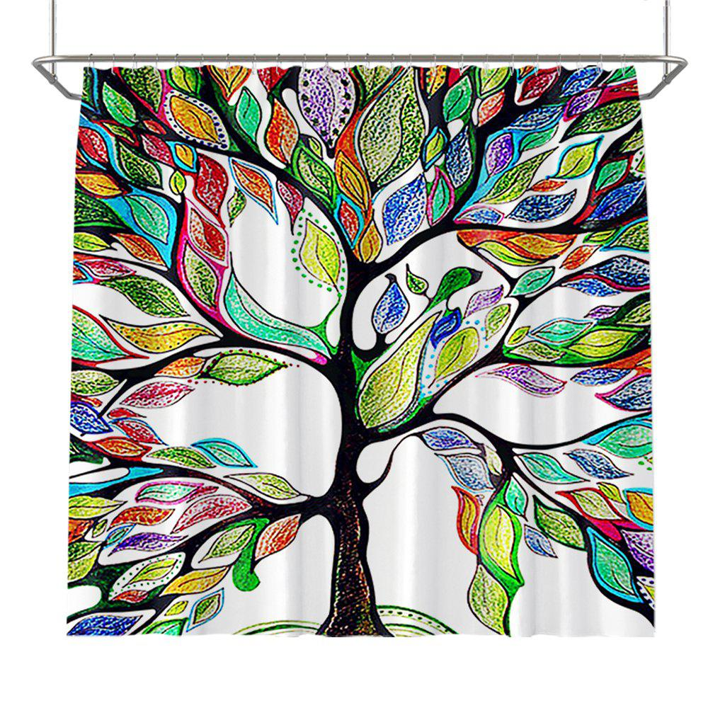 Store Colorful Tree Four Seasons Shower Curtain Extra Long Bath Decorations Bathroom Decor Sets with Hooks Print Polyester