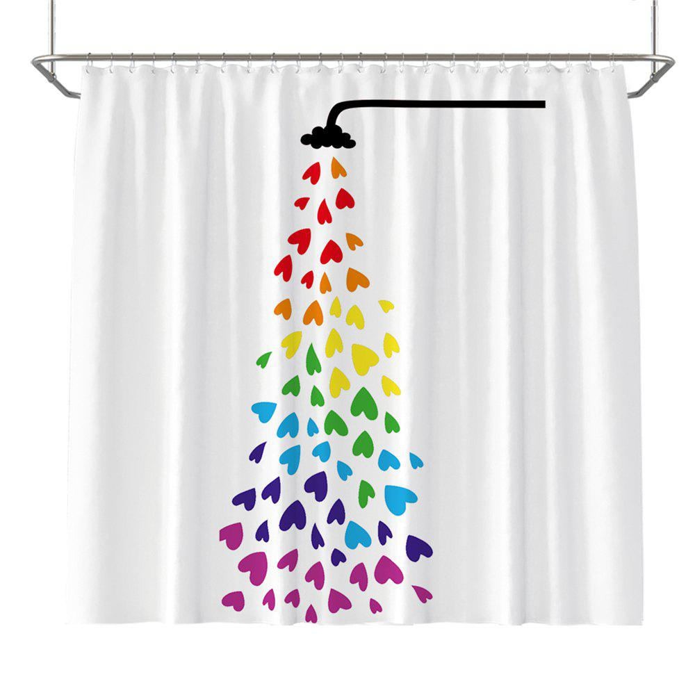 Cheap Colorful Tree Four Seasons Shower Curtain Extra Long Bath Decorations Bathroom Decor Sets with Hooks Print Polyester