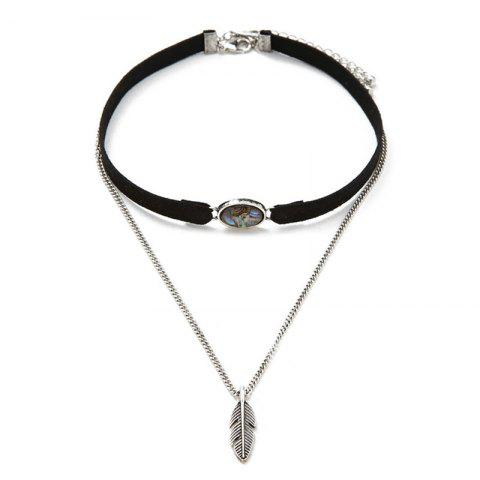 Unique Leather Feather Leaf Choker Necklace Fashion Women Jewelry Accessories