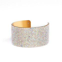Multicolor Crystal Cuff Bracelets Bangles Rhinestone Women Jewelry Accessories -
