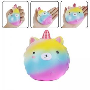 Slow Rising Stress Relief Toy Made By Enviromental PU Replica Cartoon Bear Pointed Head -