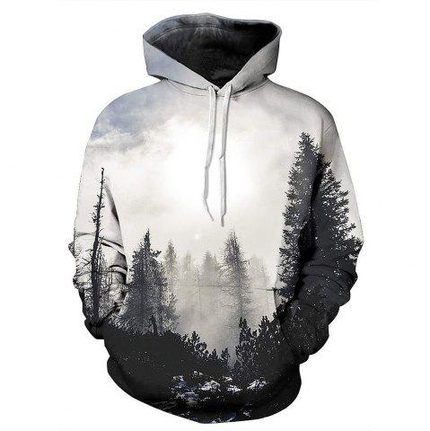 Buy Landscape 3D Printing Long-Sleeved Hooded Hoodie