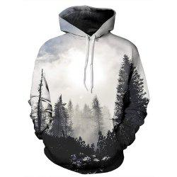 Landscape 3D Printing Long-Sleeved Hooded Hoodie -