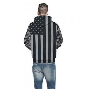 Fashion Long Sleeve Flag Pattern 3D Painted Hoodie -
