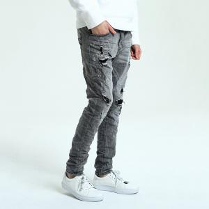 Hole Straight Washed Jeans -