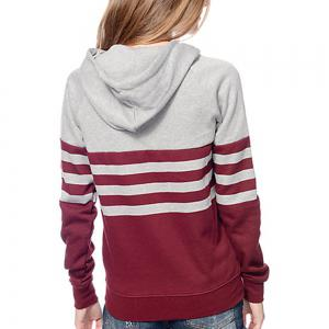 Stamp Striped Hooded Long Sleeved Sweatshirts -