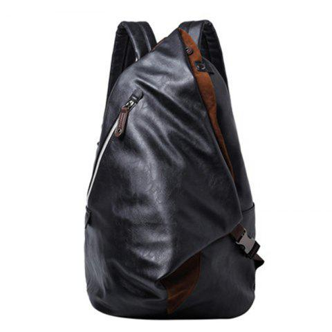 Outfits Men's Backpack Large Capacity Laptop Bag Korean Unisex Travel Rucksack Leather Knapsack