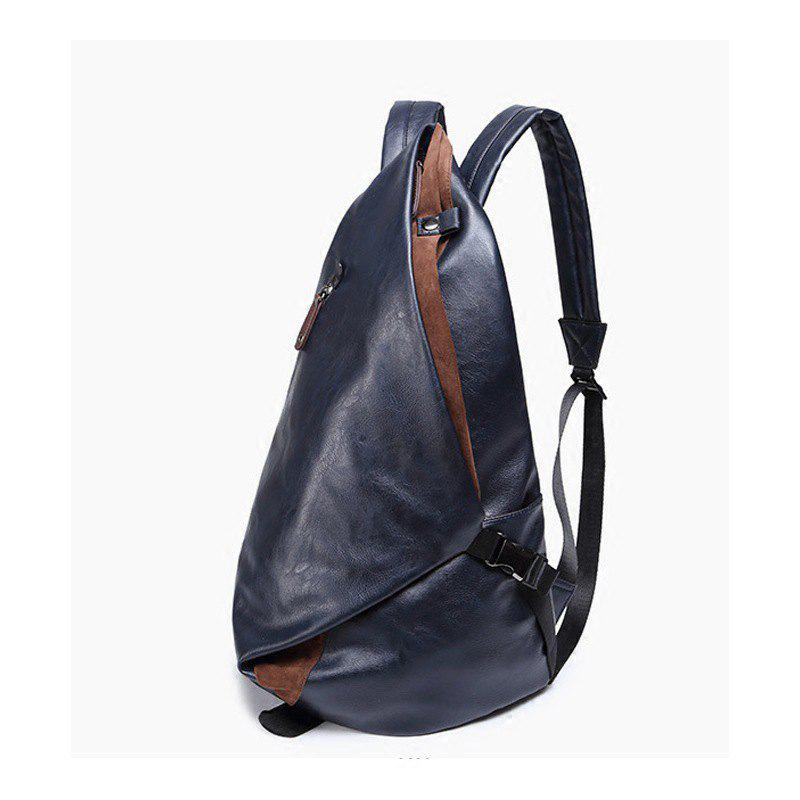 Affordable Men's Backpack Large Capacity Laptop Bag Korean Unisex Travel Rucksack Leather Knapsack