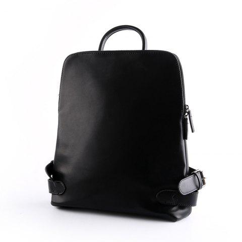 Store Leather Shoulder  Back Bag Men's Fashion Backpack Laptop Rucksack Unisex Knapsack