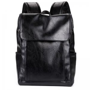 Shoulder Bag PU Leather Men's Backpack Korean Fashion Rucksack -