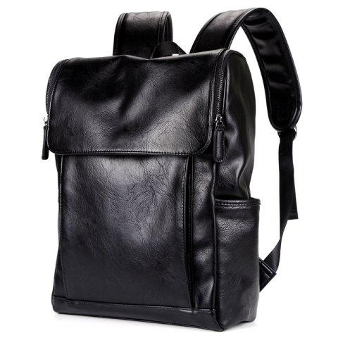 Cheap Shoulder Bag PU Leather Men's Backpack Korean Fashion Rucksack
