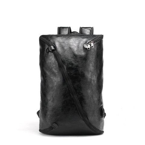 Cheap Men's Unique Fashion Leather Backpack Personality Rucksack Laptop Knapsack Travel Bag