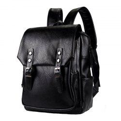 Thick Leather Men's Backpack Korean Fashion Rucksack Outdoor Business Knapsack -
