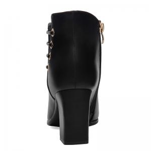 Female Thick with Pointy Head High Heel Chelsea Ankle Boots -