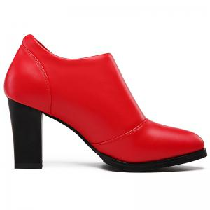 Thick and Deep-Mouth Single Shoe OL High Heels -
