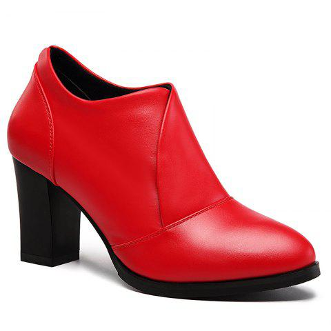 New Thick and Deep-Mouth Single Shoe OL High Heels