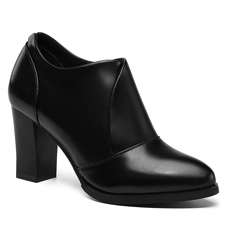 Shops Thick and Deep-Mouth Single Shoe OL High Heels
