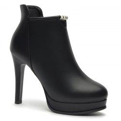 Women'S Stiletto Heels and Short British Boots -