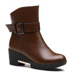 The Women Tufted Flats Raised Snow Boots -
