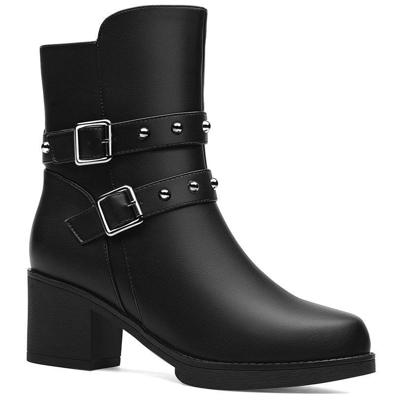 Store Female Thick with Velvet Boot