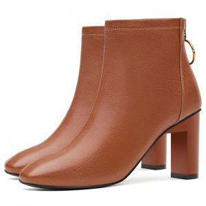 High Heel Square and Short Tube Martin Boot -