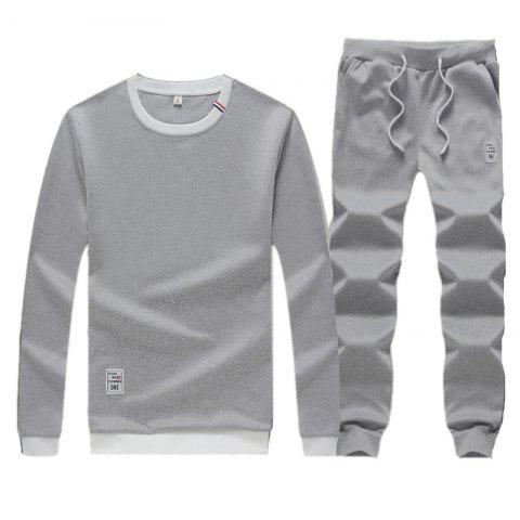 Cheap Men's Sweatshirt Set Long Sleeve O Neck Cotton Blends Pullover Set