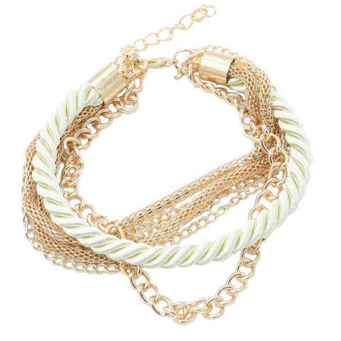 Best Fashion Multi-Layer Woven Metal Chain Bracelet