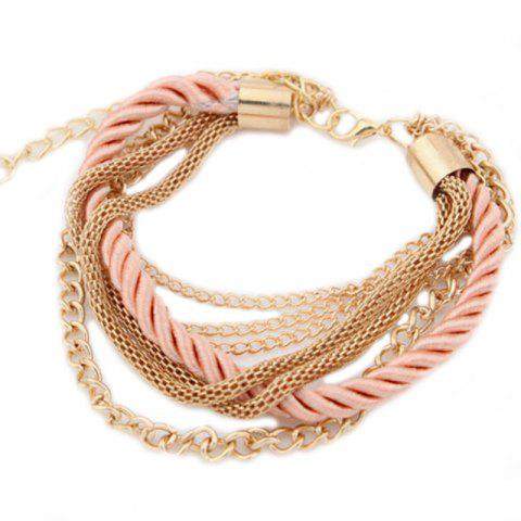 Cheap Fashion Multi-Layer Woven Metal Chain Bracelet