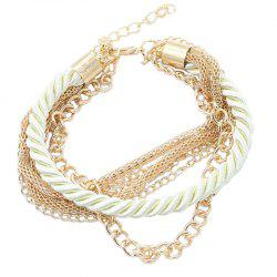 Fashion Multi-Layer Woven Metal Chain Bracelet -