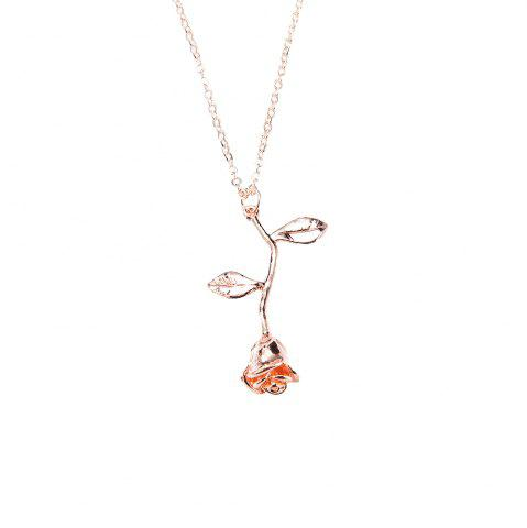 Online Fashion Rose Flower Pendant Necklace Valentine'S Day Gift