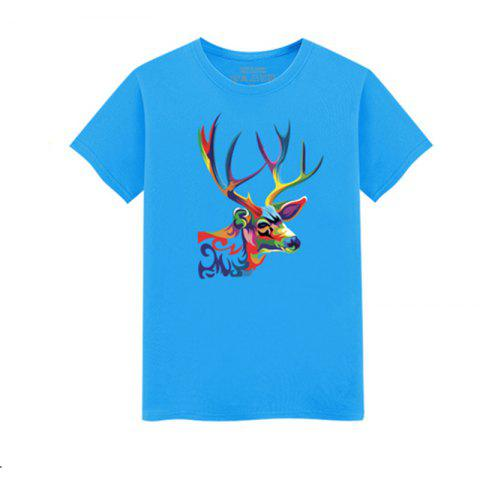 Outfits Men's Short Sleeved Students Simple and Fashionable Summer T - Shirt