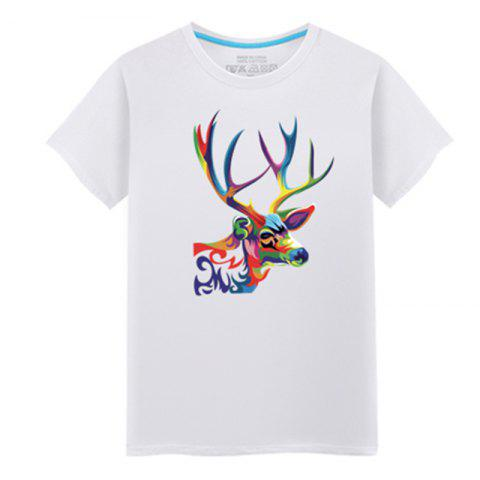 Outfit Men's Short Sleeved Students Simple and Fashionable Summer T - Shirt