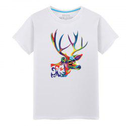 Men's Short Sleeved Students Simple and Fashionable Summer T - Shirt -