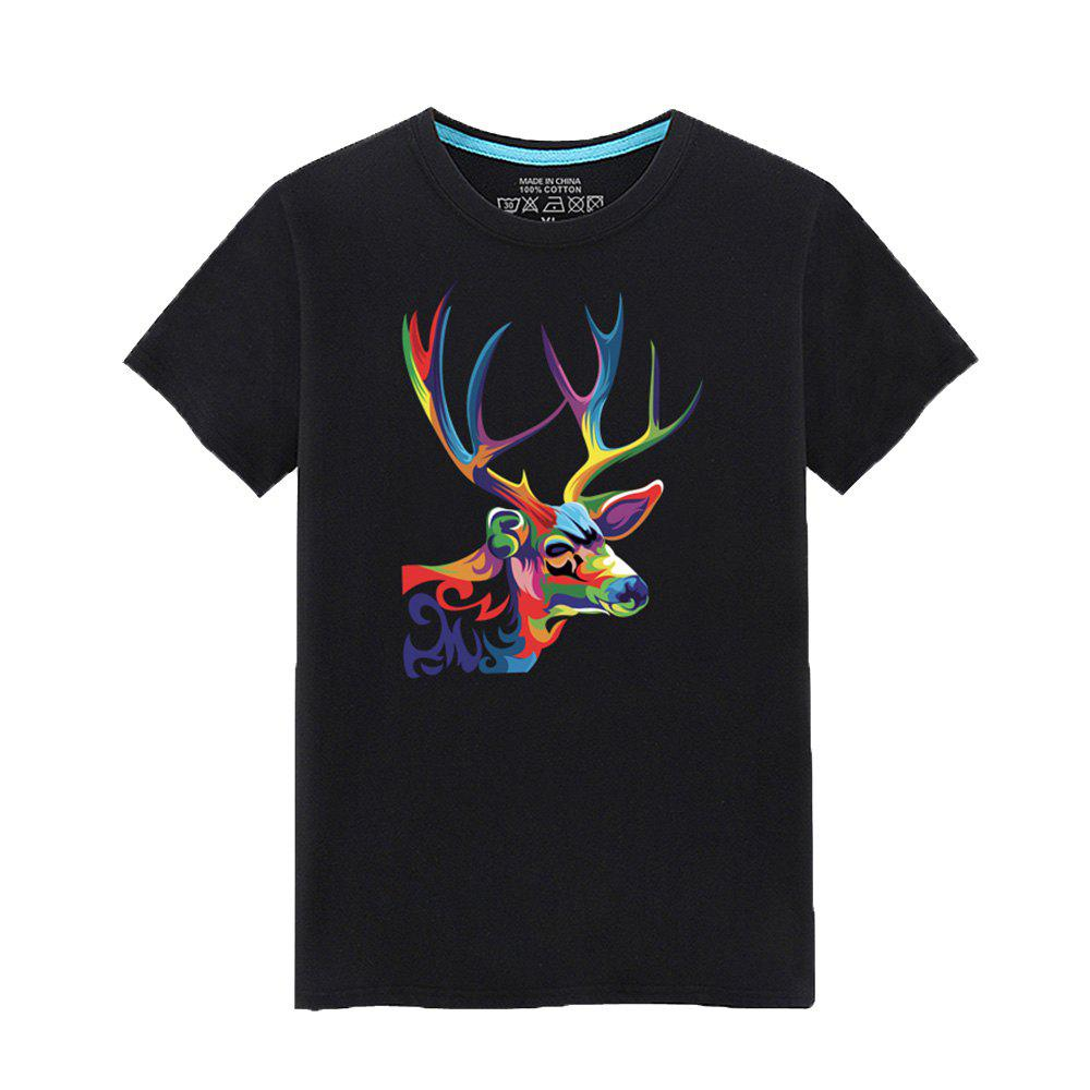 Unique Men's Short Sleeved Students Simple and Fashionable Summer T - Shirt
