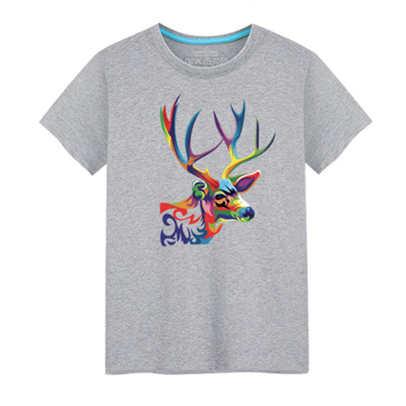 Fancy Men's Short Sleeved Students Simple and Fashionable Summer T - Shirt