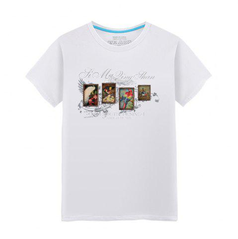 Discount Men's Short Sleeved Students Brief Fashion Summer Lovers T-Shirt