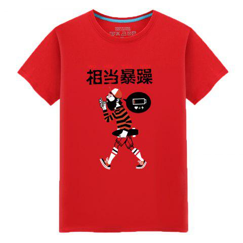 Cheap Men's Students Simple Fashion Lovers Summer T-Shirt