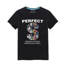 Men's Students Summer Simple Fashion Lovers T-Shirt -