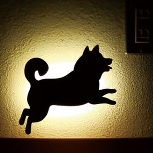Optically Controlled Sound Control Running Dog Night Light Shadow LED Projection Lamp -