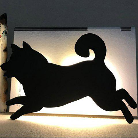 Discount Optically Controlled Sound Control Running Dog Night Light Shadow LED Projection Lamp