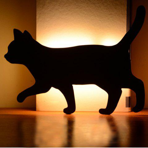 Store Optically Controlled Sound Control Walking Cat Night Light Shadow LED Projection Lamp