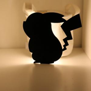 Optically controlled Sound Control Pikachu  Night Light Shadow LED Projection Lamp -