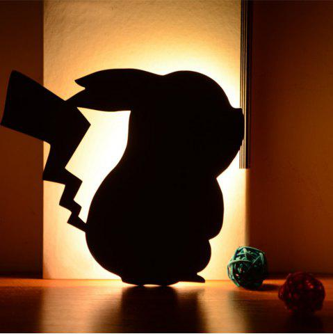 Latest Optically controlled Sound Control Pikachu  Night Light Shadow LED Projection Lamp
